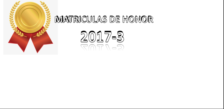 MATRÍCULAS DE HONOR 2017-3
